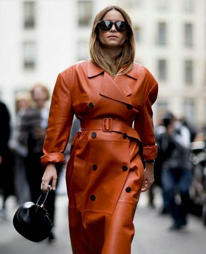 Шкіряні пальта 2020-2021: модні осінні аутфіти 12