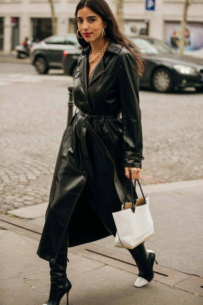 Шкіряні пальта 2020-2021: модні осінні аутфіти 13