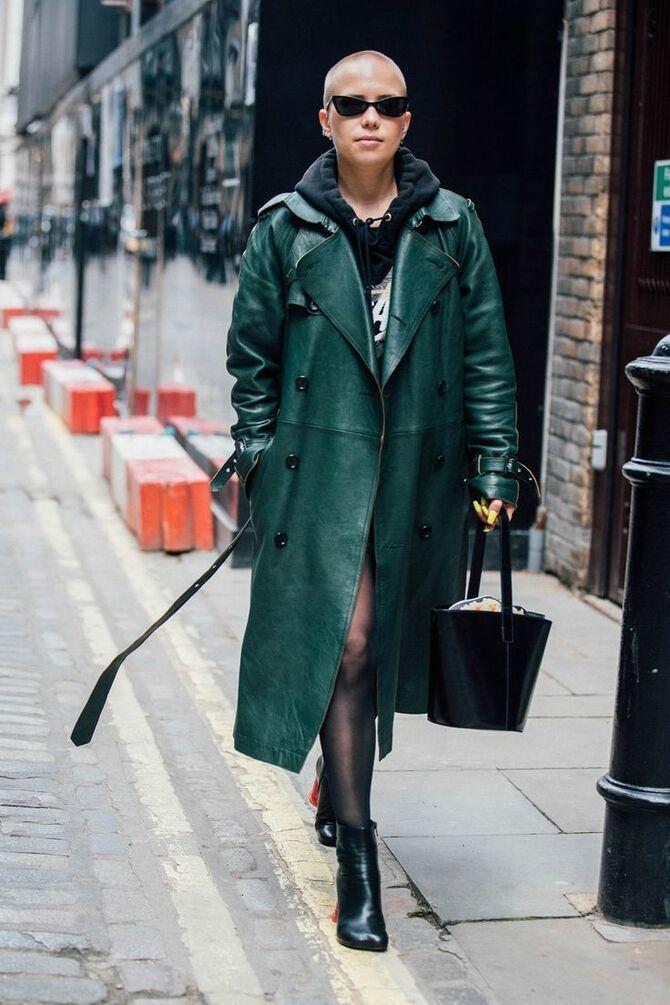 Шкіряні пальта 2020-2021: модні осінні аутфіти 14