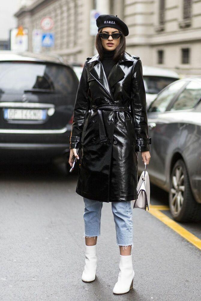 Шкіряні пальта 2020-2021: модні осінні аутфіти 15