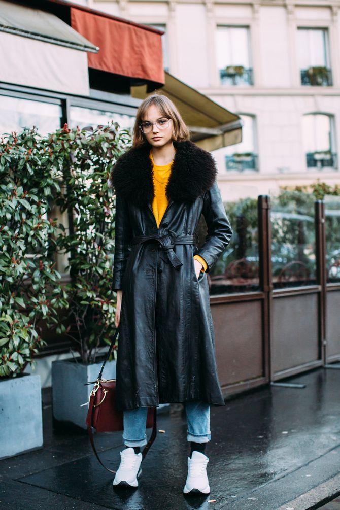 Шкіряні пальта 2020-2021: модні осінні аутфіти 16