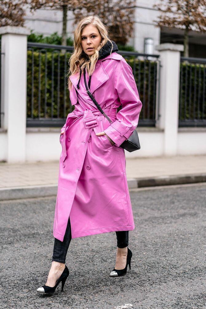 Шкіряні пальта 2020-2021: модні осінні аутфіти 17
