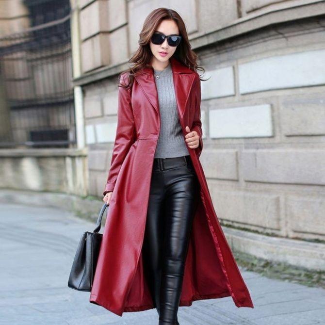Шкіряні пальта 2020-2021: модні осінні аутфіти 18