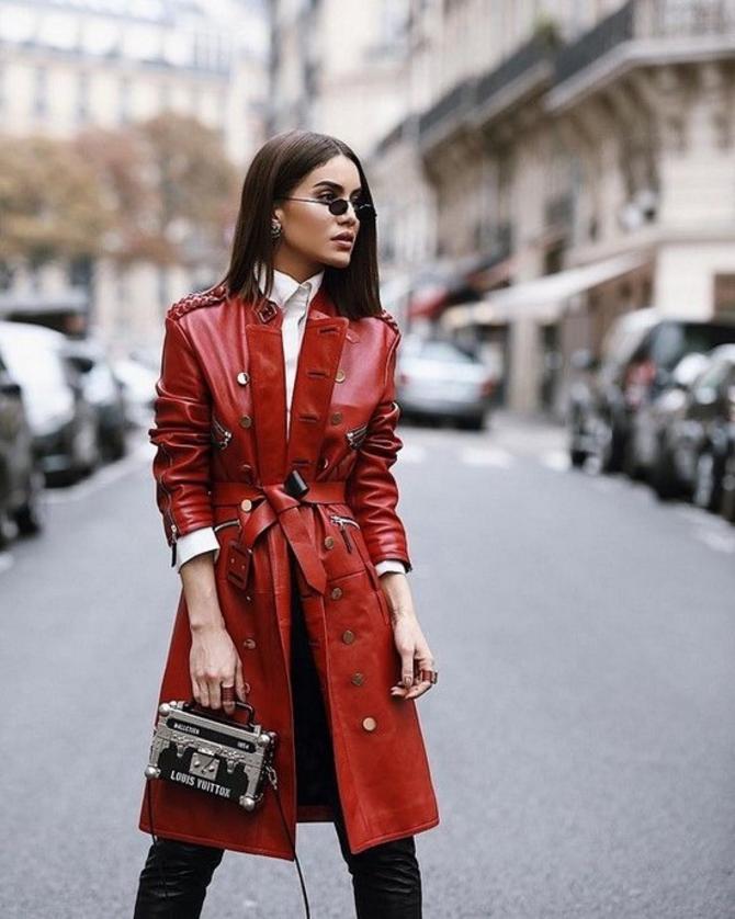 Шкіряні пальта 2020-2021: модні осінні аутфіти 21