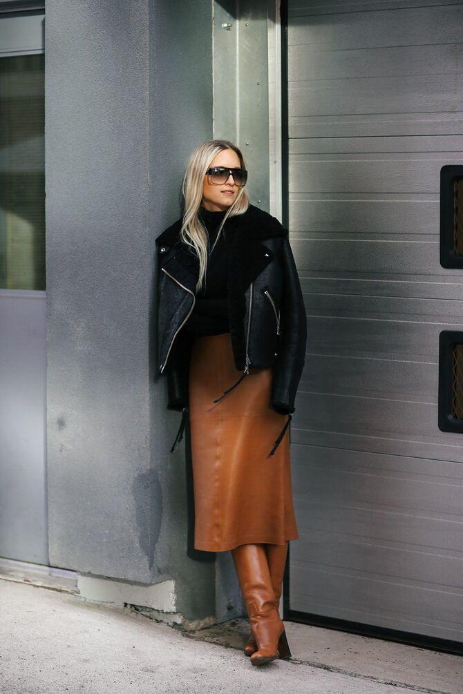 Шкіряні пальта 2020-2021: модні осінні аутфіти 22