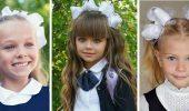 Зачіска на 1 вересня 1 клас: модні першокласниці