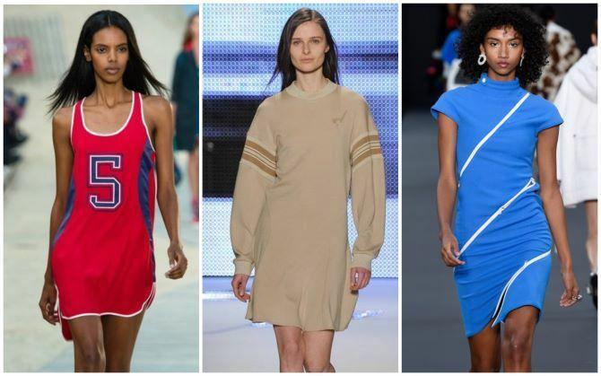 Модные спортивные платья 2020-2021 1
