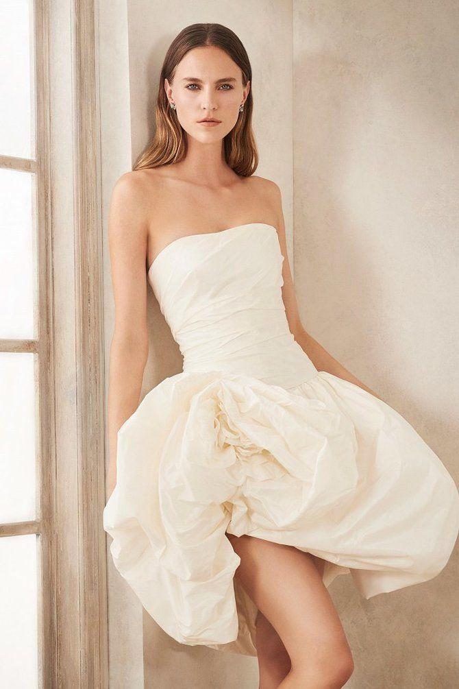 Короткие свадебные платья 2021-2022 1