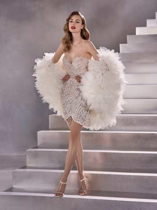 Короткие свадебные платья 2021-2022 11