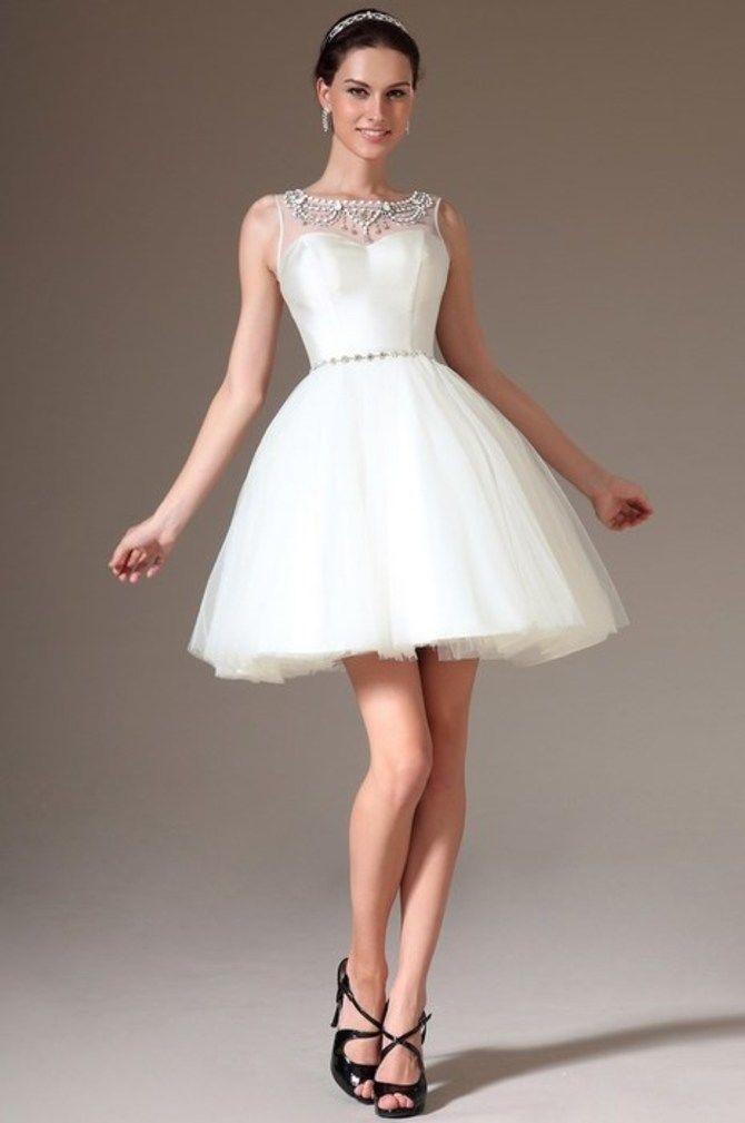 Короткие свадебные платья 2021-2022 12