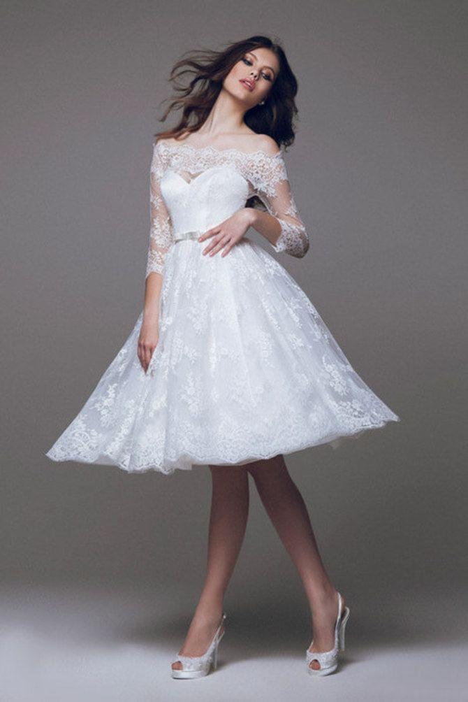 Короткие свадебные платья 2021-2022 13