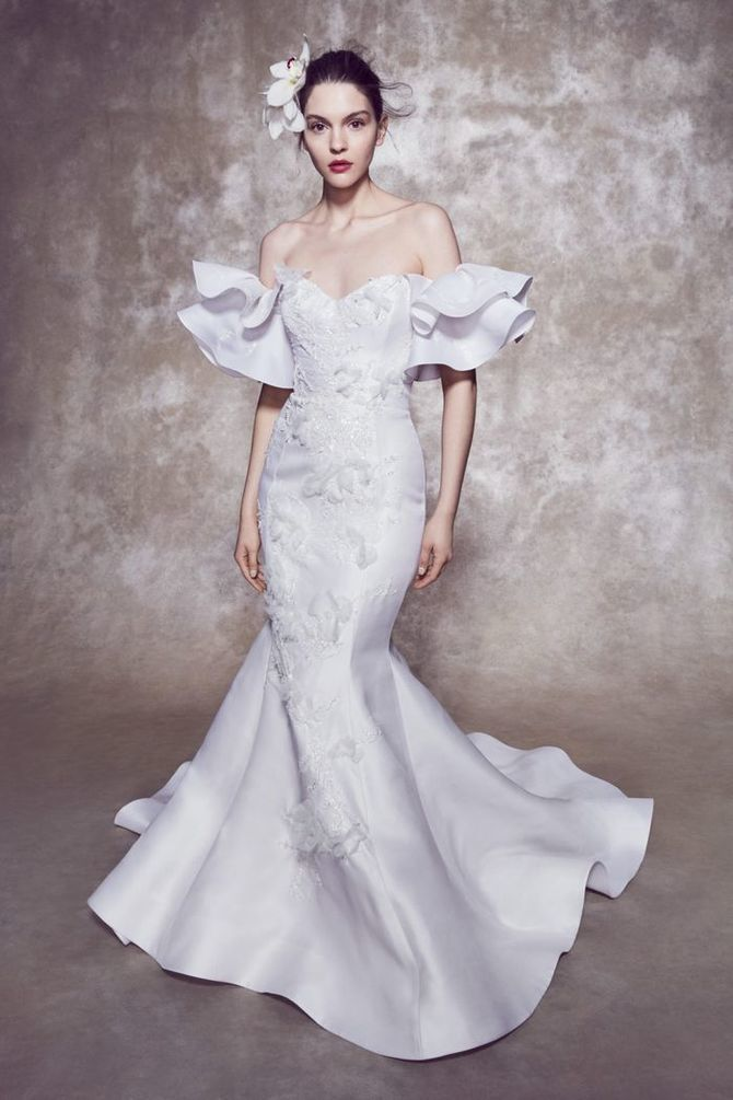 Модні весільні сукні з рукавами 2021-2022 14