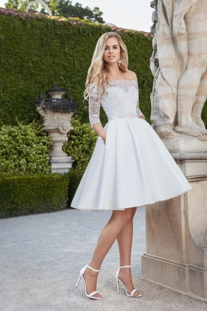 Короткие свадебные платья 2021-2022 14