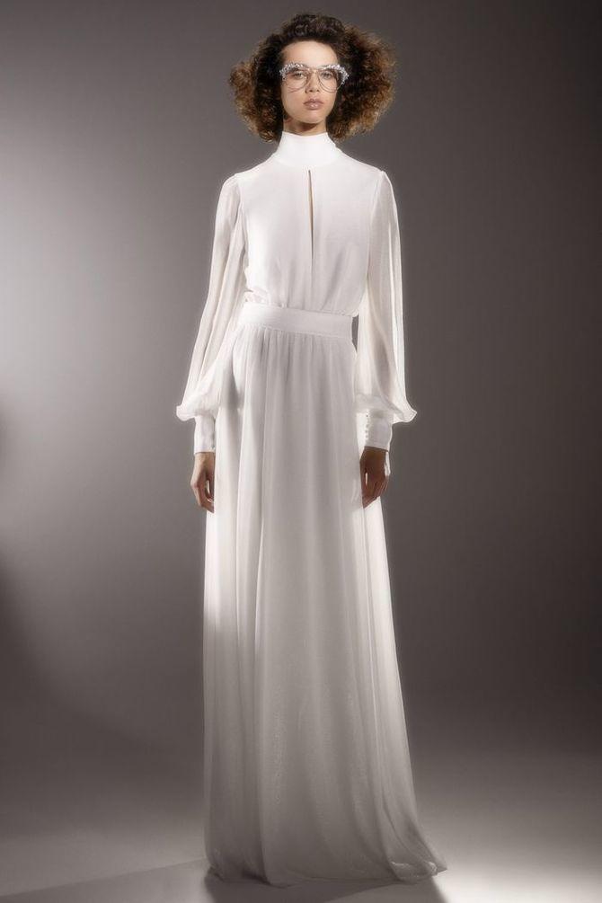Модні весільні сукні з рукавами 2021-2022 15