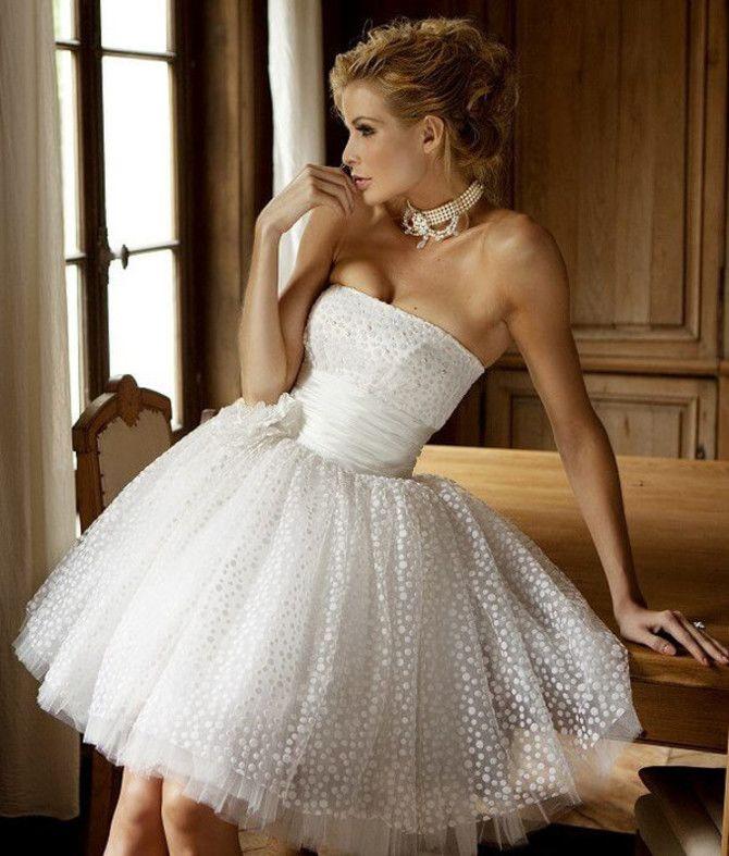 Короткие свадебные платья 2021-2022 15