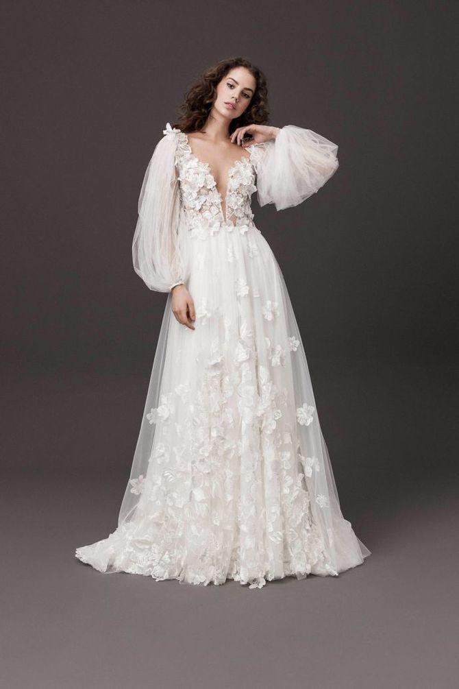 Модні весільні сукні з рукавами 2021-2022 16
