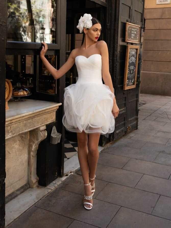 Короткие свадебные платья 2021-2022 16
