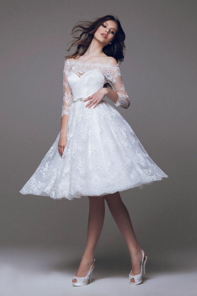 Короткі весільні сукні 2020-2021 16