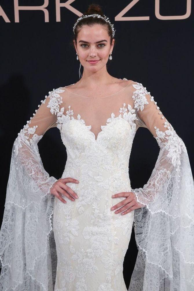 Модні весільні сукні з рукавами 2021-2022 18