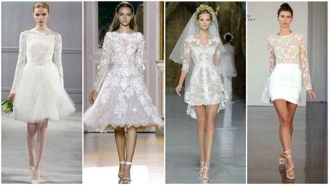 Короткие свадебные платья 2021-2022 17