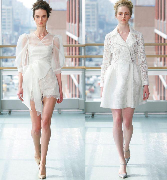 Короткие свадебные платья 2021-2022 18