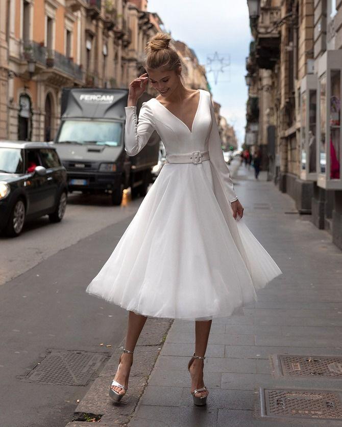 Короткие свадебные платья 2021-2022 2