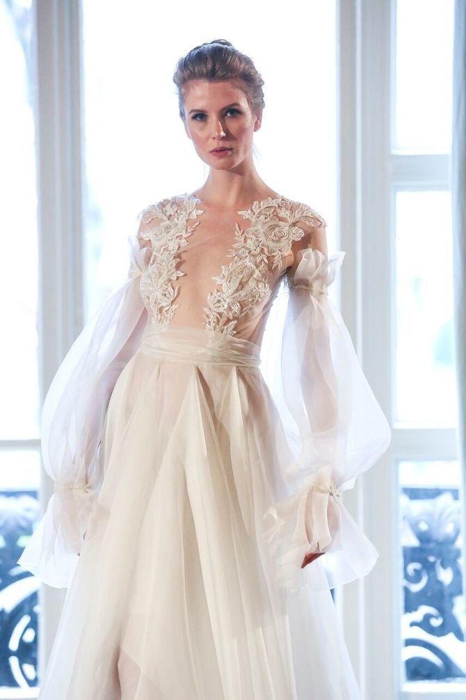 Модні весільні сукні з рукавами 2021-2022 20