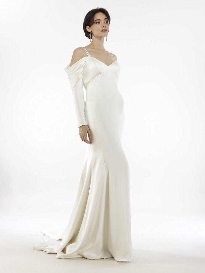 Модні весільні сукні з рукавами 2021-2022 22