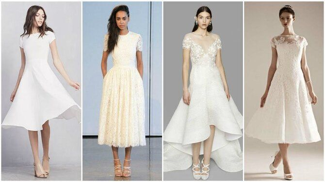 Короткие свадебные платья 2021-2022 22