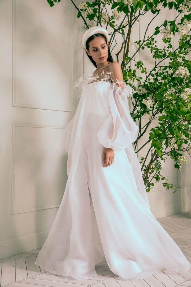 Модні весільні сукні з рукавами 2021-2022 25