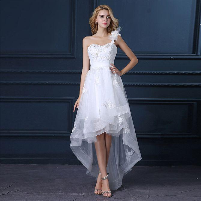 Короткие свадебные платья 2021-2022 23