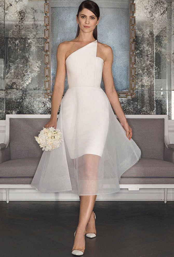 Короткие свадебные платья 2021-2022 25