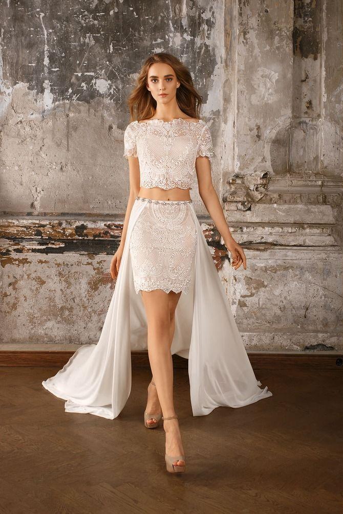Короткие свадебные платья 2021-2022 27
