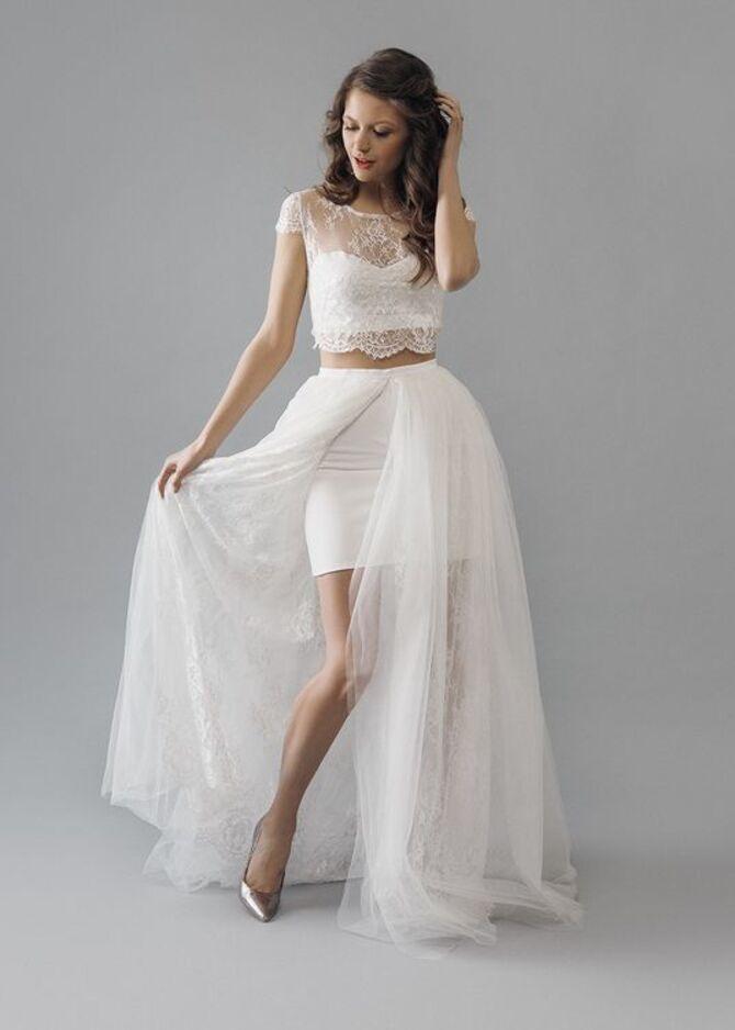 Короткие свадебные платья 2021-2022 28