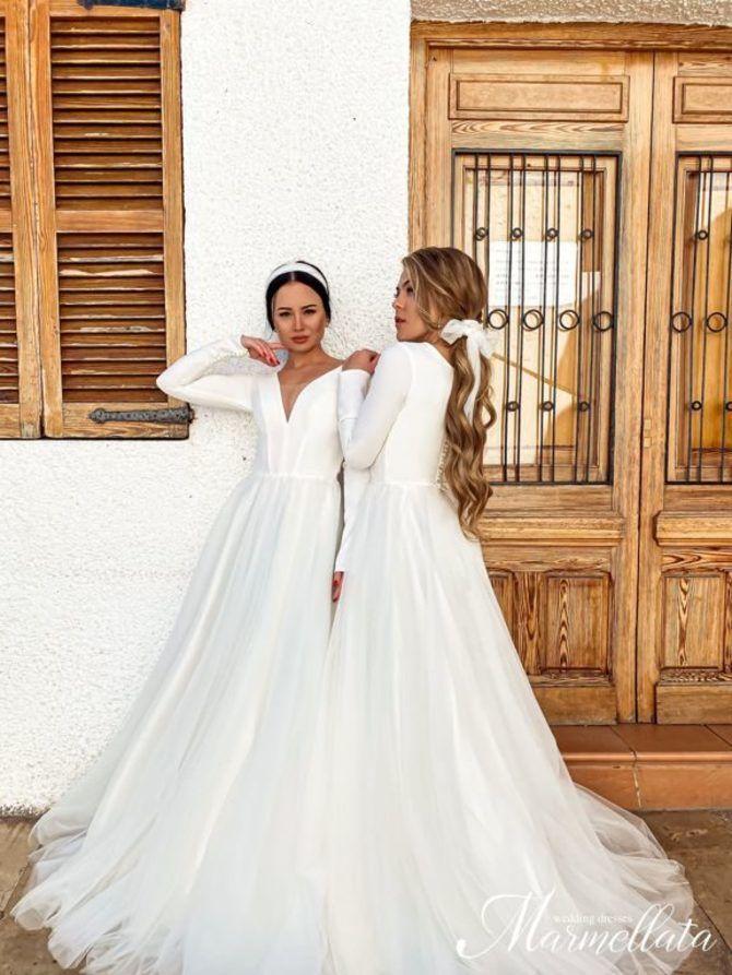 Модні весільні сукні з рукавами 2021-2022 3