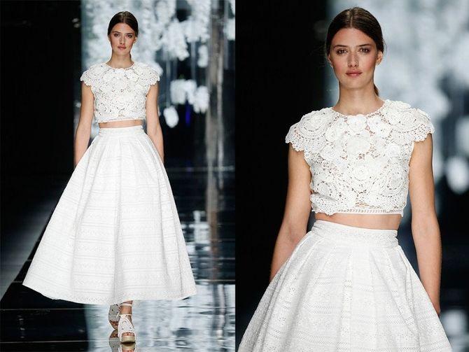 Короткие свадебные платья 2021-2022 29