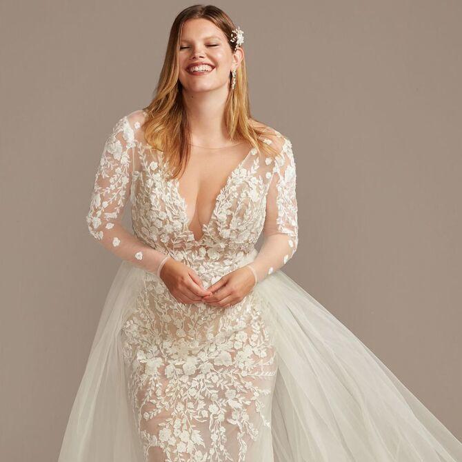 Модні весільні сукні з рукавами 2021-2022 34