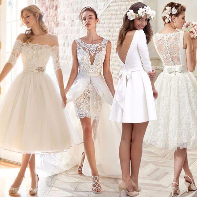 Короткие свадебные платья 2021-2022 4
