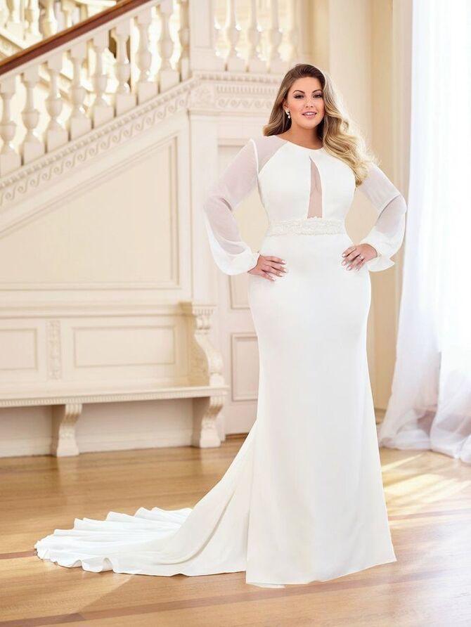 Модні весільні сукні з рукавами 2021-2022 40