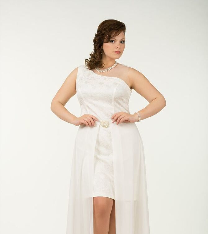 Короткие свадебные платья 2021-2022 44