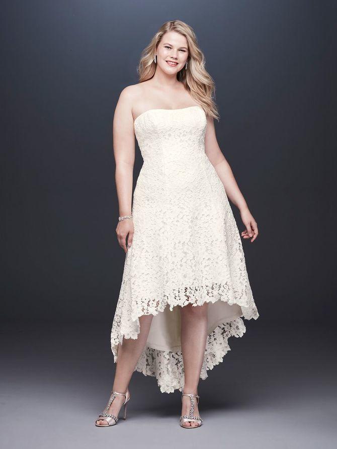 Короткие свадебные платья 2021-2022 47