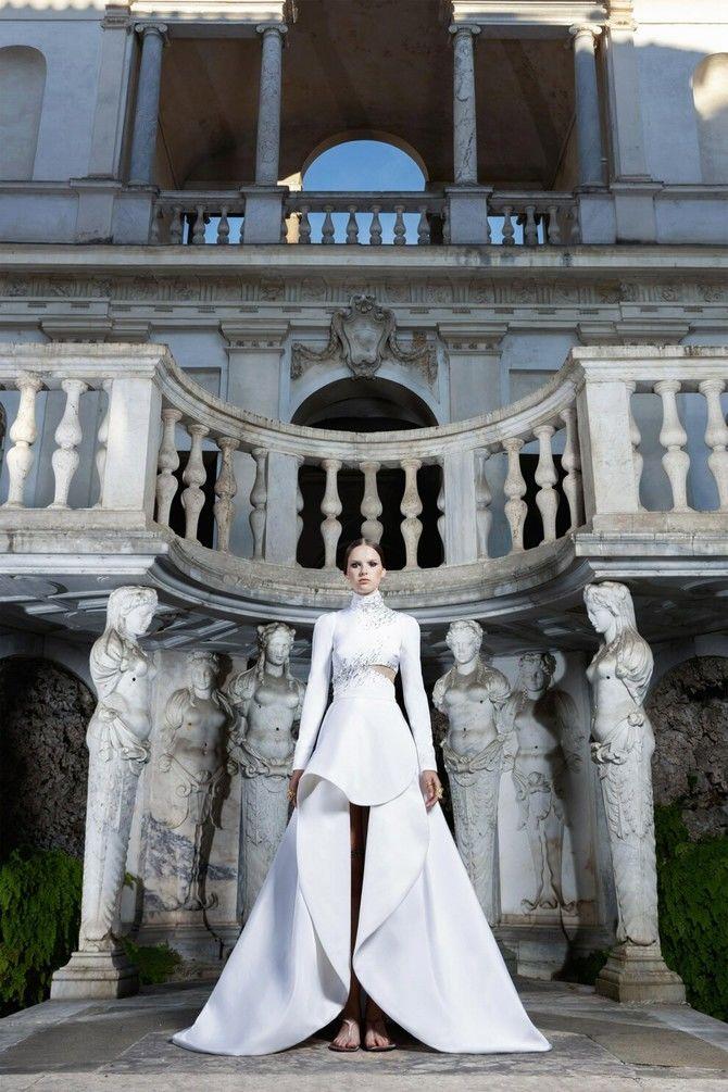 Модні весільні сукні з рукавами 2021-2022 5