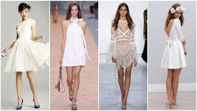 Короткие свадебные платья 2021-2022 5