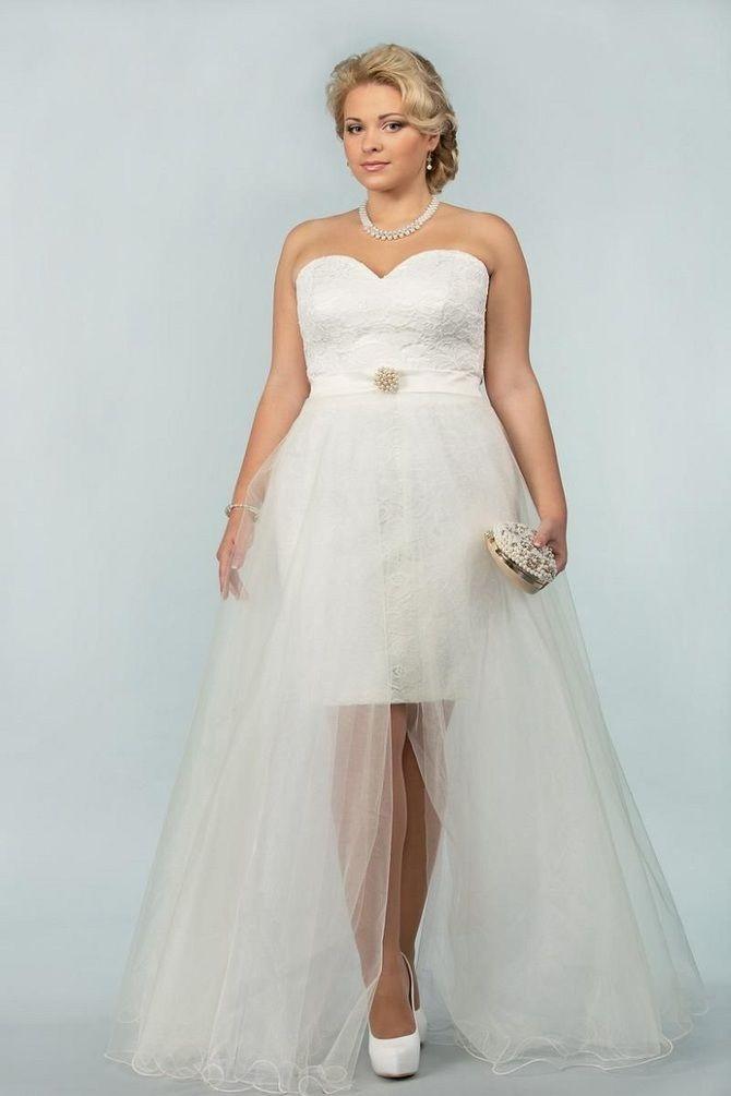 Короткие свадебные платья 2021-2022 49