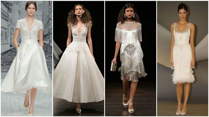 Короткие свадебные платья 2021-2022 6