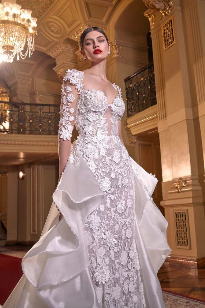 Модні весільні сукні з рукавами 2021-2022 7