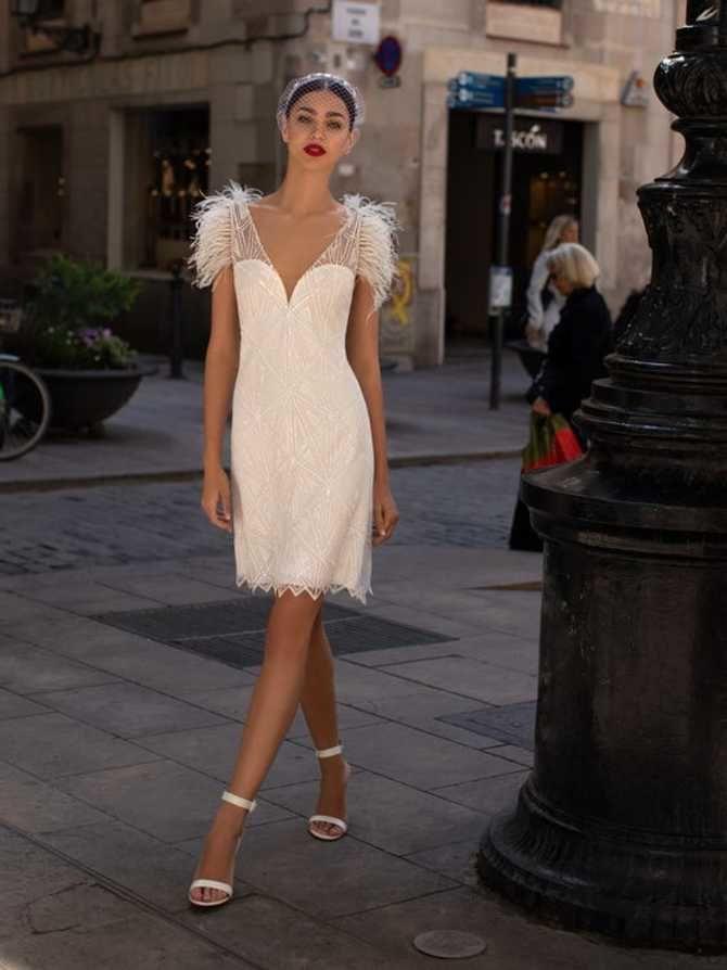 Короткие свадебные платья 2021-2022 7