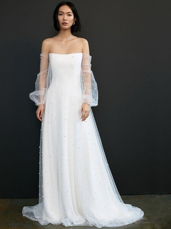 Модні весільні сукні з рукавами 2021-2022 8