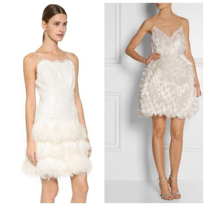 Короткие свадебные платья 2021-2022 8