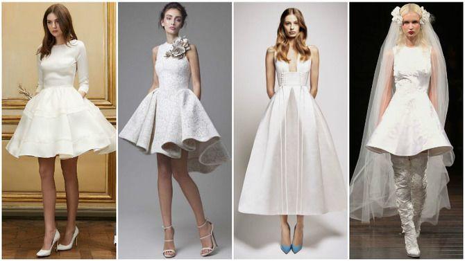 Короткие свадебные платья 2021-2022 9